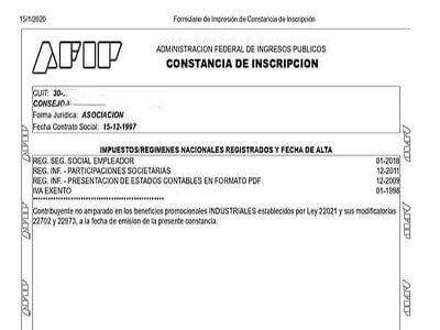 AFIP - Administración Federal de Ingresos Públicos documento de constancia de admision AFIP cuitargentina.com